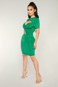 Good Changes Cut Out Dress - Green