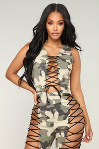 See Me Whip Jumpsuit - Olive