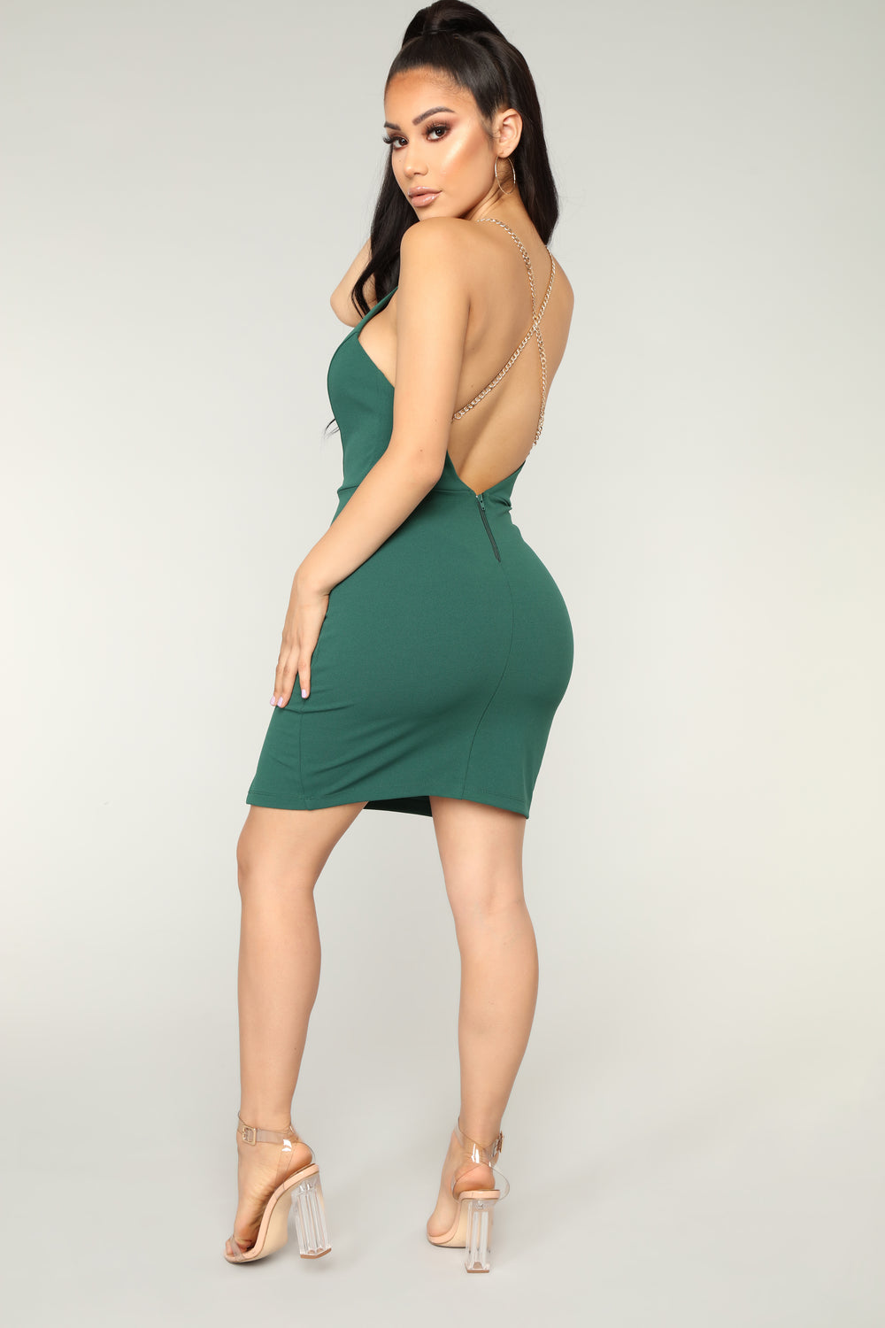 On The Way Out Dress - Hunter Green