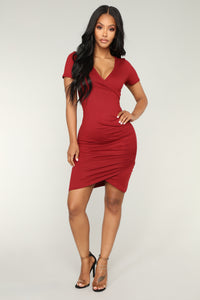 Kinsley Dress - Burgundy