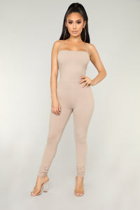 Switch Gears Jumpsuit - Mocha Angle 1