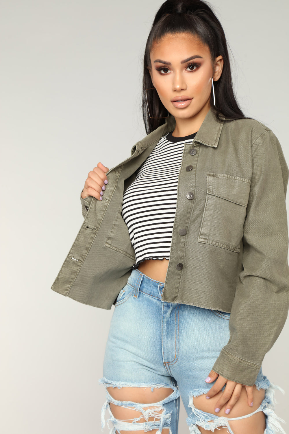Feeling This Jacket - Green
