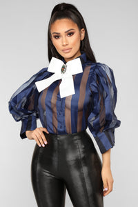 Nice For What Blouse - Navy