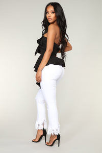 Young Love Peplum Top - Black