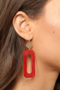 Plastic And Fantastic Earrings - Red