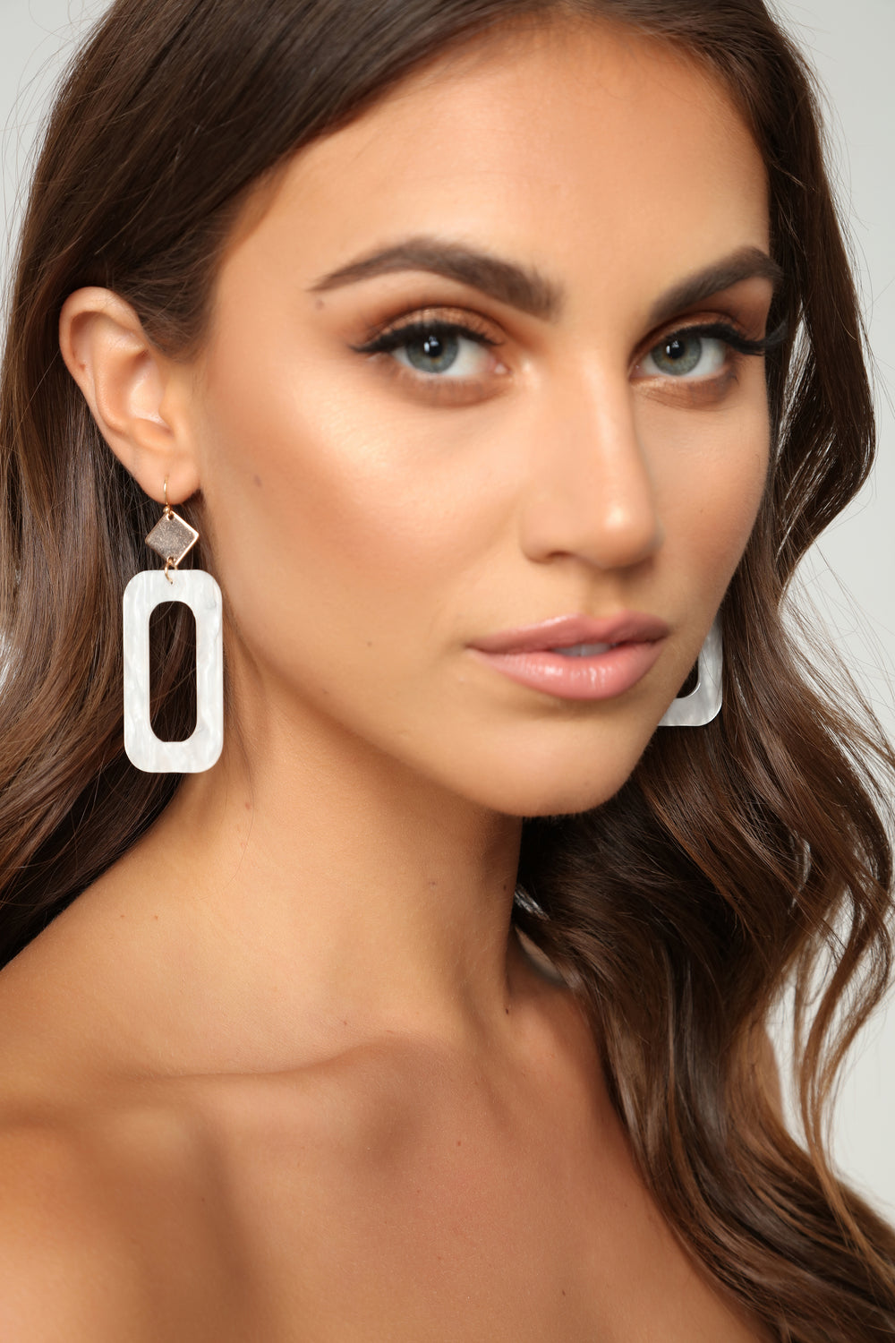 Plastic And Fantastic Earrings - White