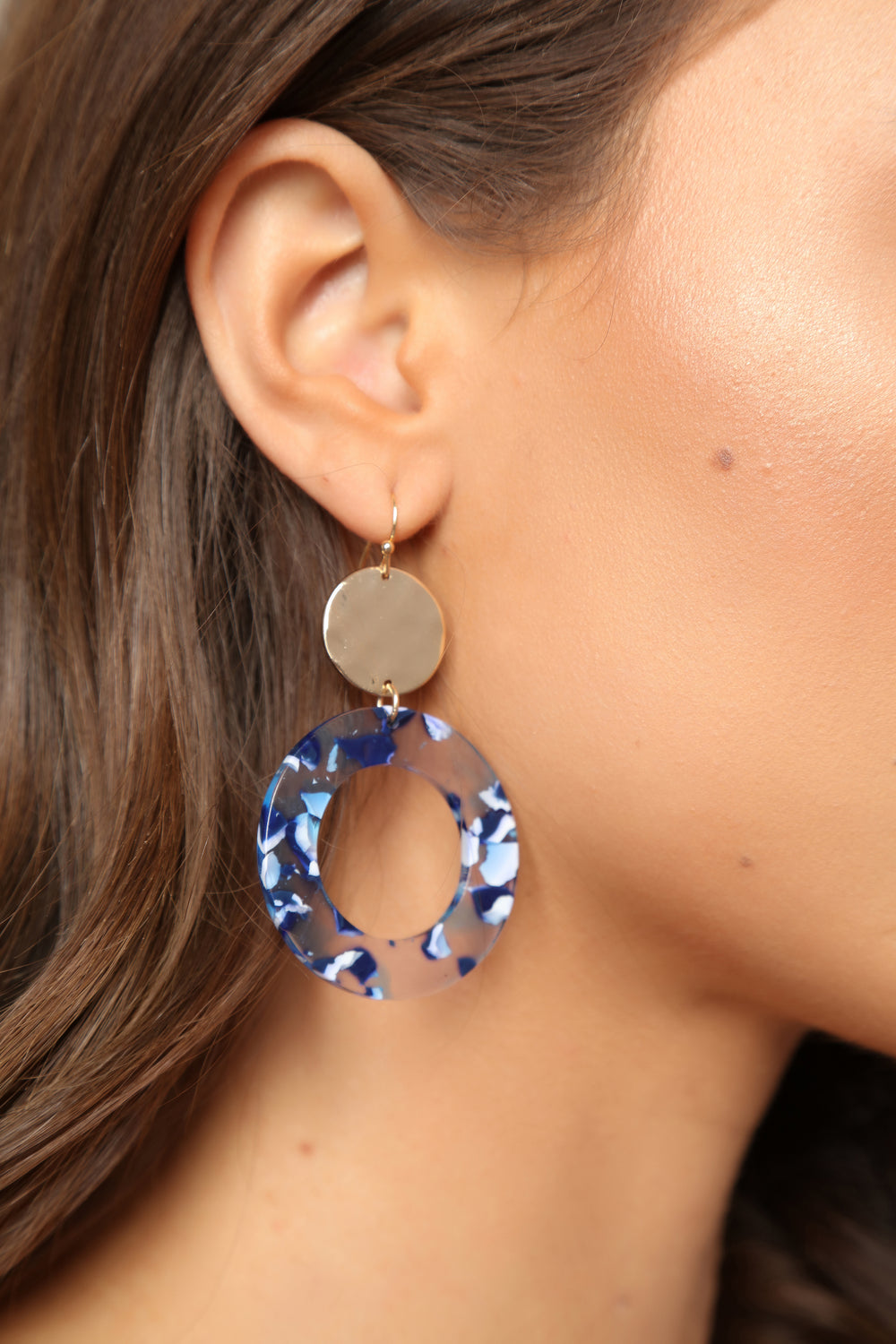 Junior Plastic Earrings - Blue