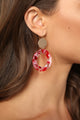 Junior Plastic Earrings - Red