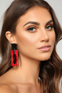 My Ename Earrings - Red