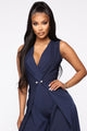 Elegance Is Forever Jumpsuit - Navy