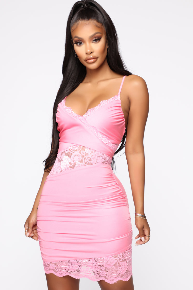 Keep On Dreaming Mini Dress - Pink