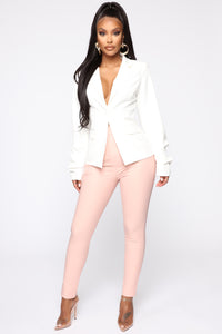 Benjamin Button High Rise Skinny Pants - Blush Angle 2