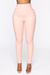 Benjamin Button High Rise Skinny Pants - Blush Angle 1