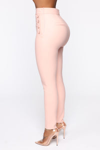 Benjamin Button High Rise Skinny Pants - Blush Angle 4