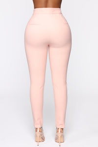 Benjamin Button High Rise Skinny Pants - Blush Angle 6