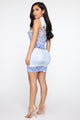 City Lights Bodycon Dress - White/Combo