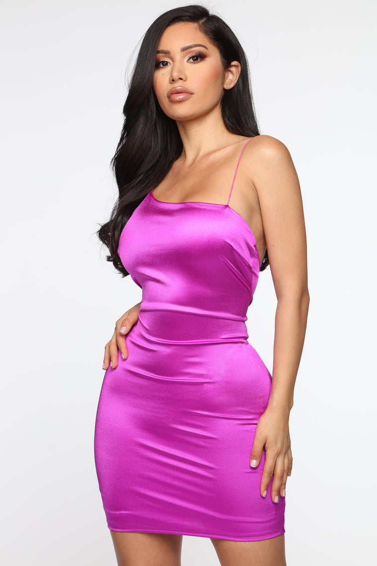 Stay With Me Dress - Magenta