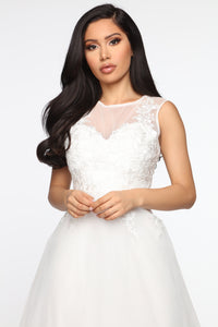 A Day Dream Crochet Gown - White