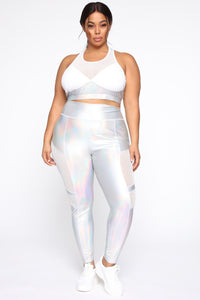 My Future Is Looking Bright Leggings - White/combo