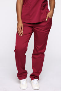 Wellness Scrub Set - Burgundy Angle 6