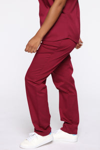 Wellness Scrub Set - Burgundy Angle 7