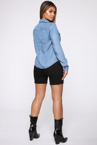 Trissy Tencel Denim Shirt - Medium Wash