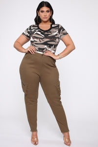 Catch My Vibes Skinny Jeans - Olive