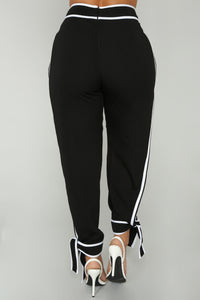 I'm Not Lyin' Pants - Black/White