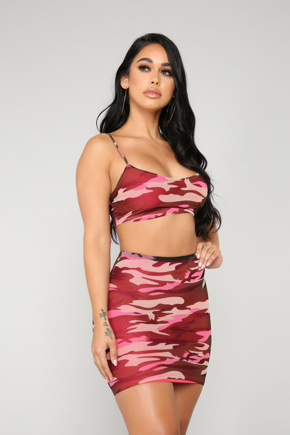 Stop Meshing Around Camo Set - Burgundy Camo