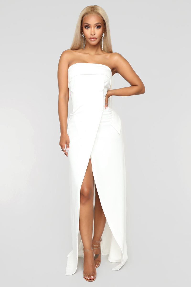 Party With Cardi Dress - White, Dresses