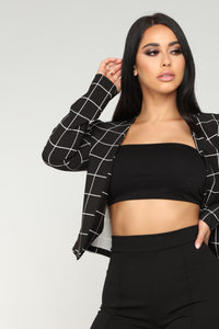 On The Line Blazer - Black