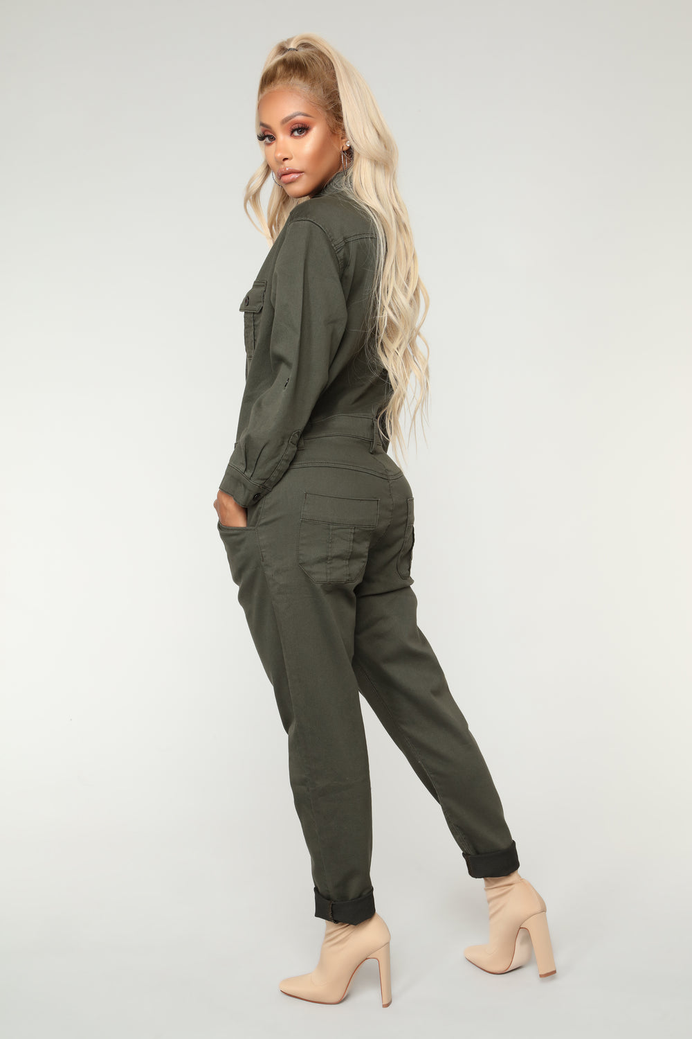 Working Hard Jumpsuit - Olive