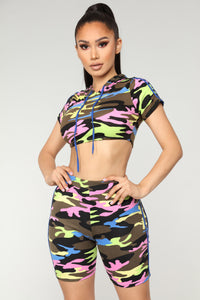 Double Down Stripe Camo Set - Blue