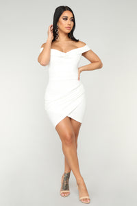 Fancy Seeing You Here Asymmetrical Dress - White