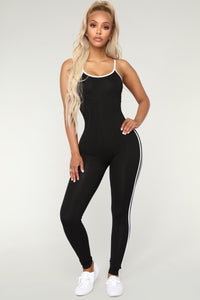 Post Gym Selfie Jumpsuit - Black