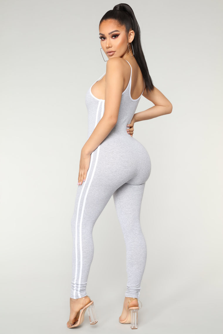 a2b7ac8d350 Post Gym Selfie Jumpsuit - Heather Grey