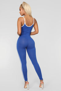Post Gym Selfie Jumpsuit - Royal Angle 3