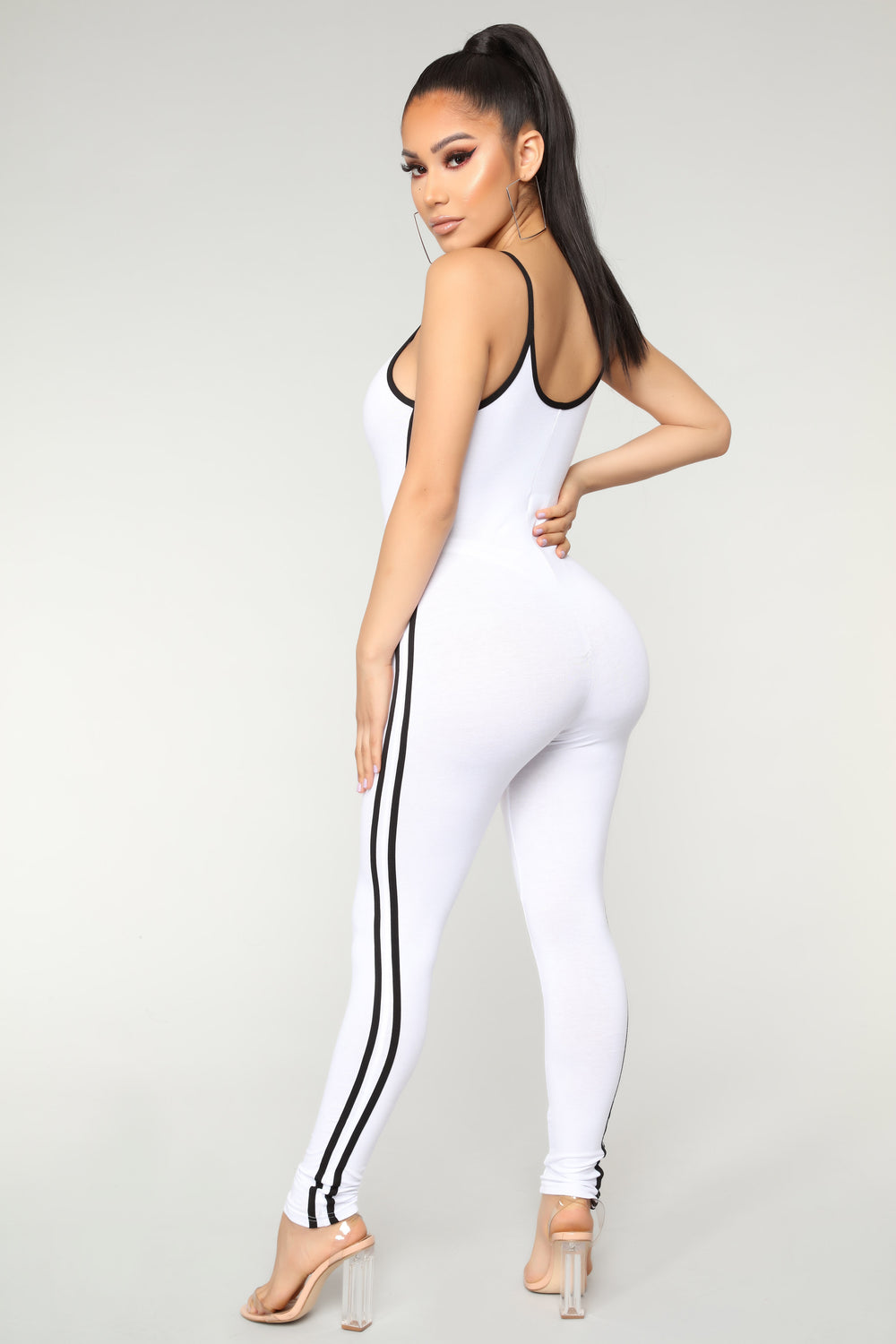 Post Gym Selfie Jumpsuit - White