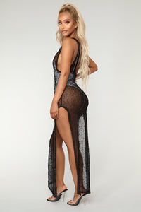 So Incredible Coverup Dress - Black