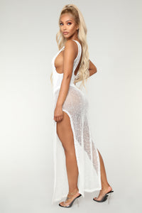 So Incredible Coverup Dress - White