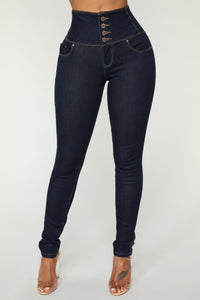 Shut It Down Skinny Jeans - Dark Wash
