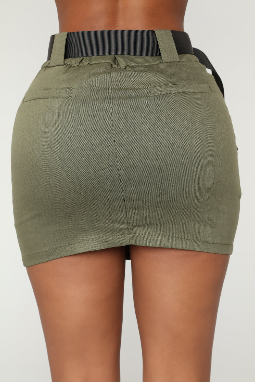 Heavy Cargo Mini Skirt - Olive