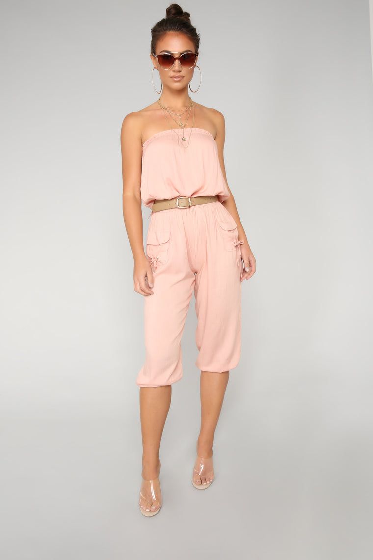Fragile Cargo Jumpsuit - Rose