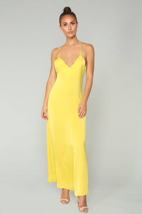 Daytime Vibes Maxi Dress - Mustard
