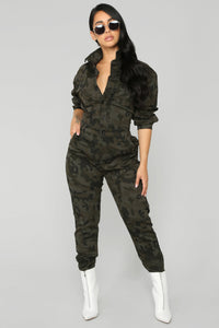 Hard Working Camo Jumpsuit - Camo