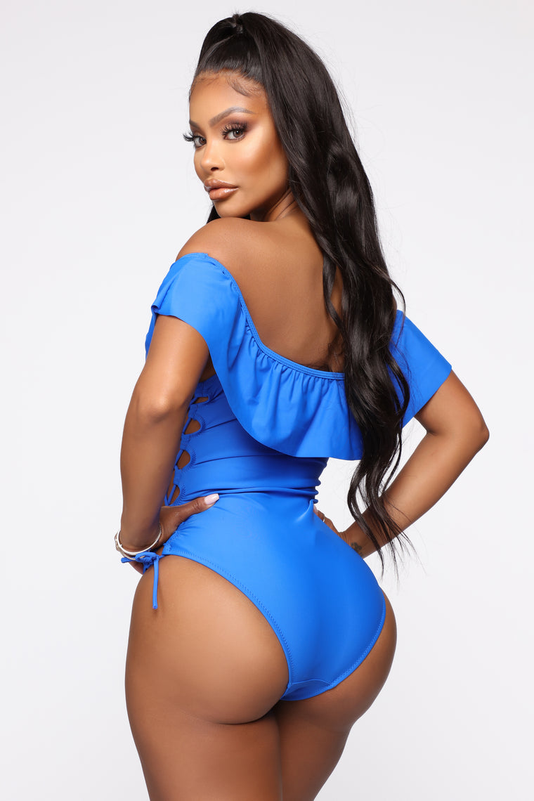 Summer Tan Lines Swimsuit - Blue