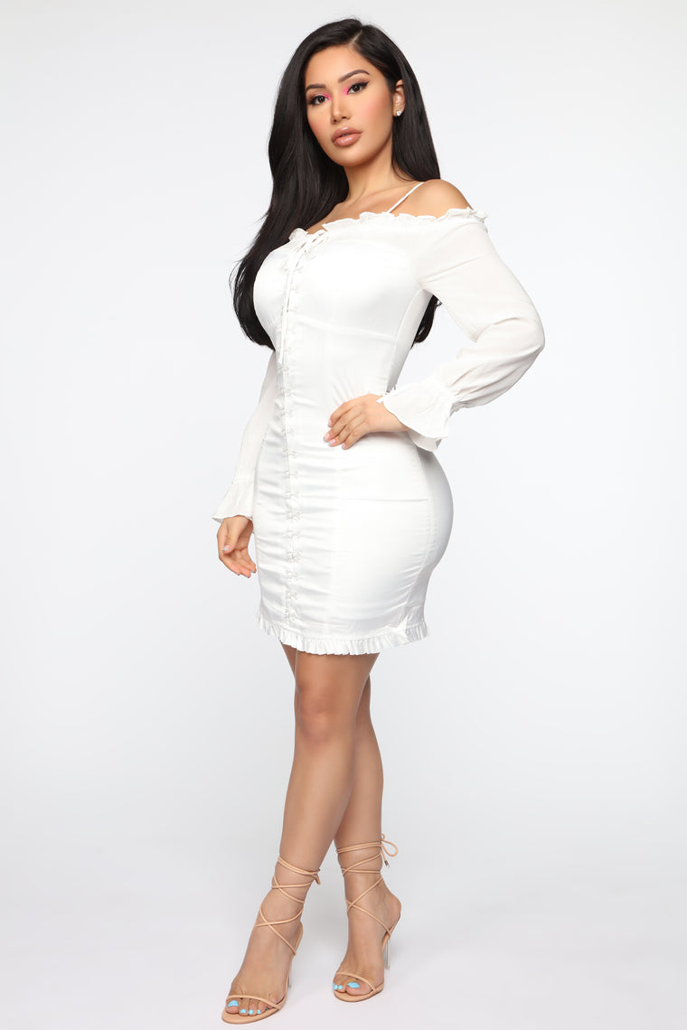Hooked On Your Look Dress - White
