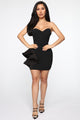 Want Your Love Tube Mini Dress - Black