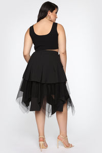 Divine Lady Midi Skirt - Black