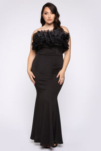 Voted Most Popular Mermaid Gown - Black